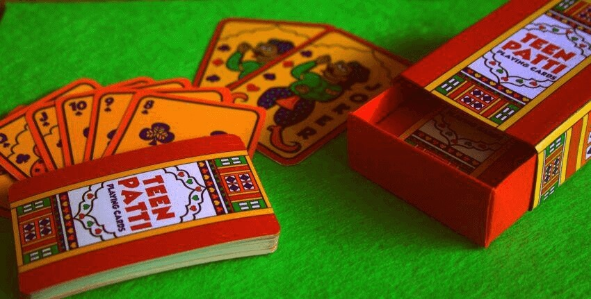 Deck of cards for teen patti