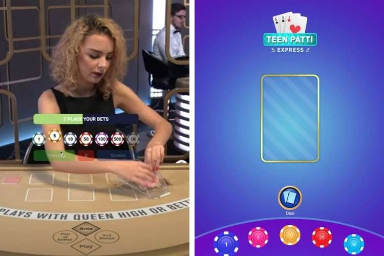 Differences between teen patti live and animated